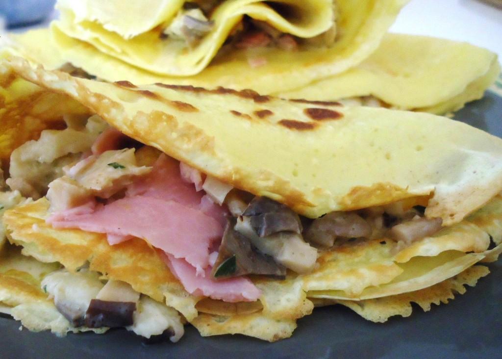 Pan per Focaccia, Courmayeur - crepe salata prosciutto funghi