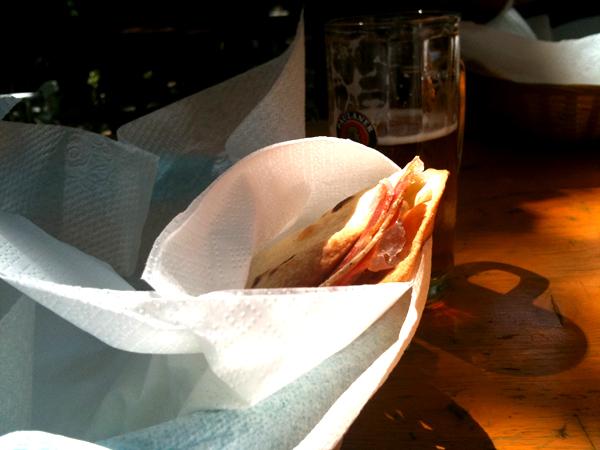 Sabay bar, Sirolo, Ancona - piadina