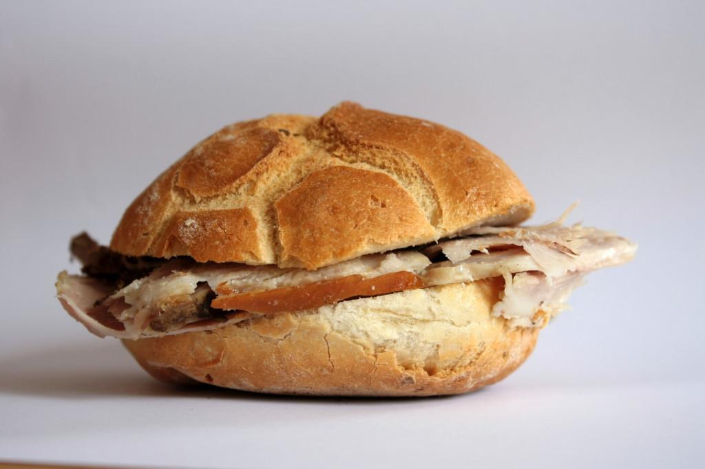 Maialino Divino, Assisi - panino porchetta