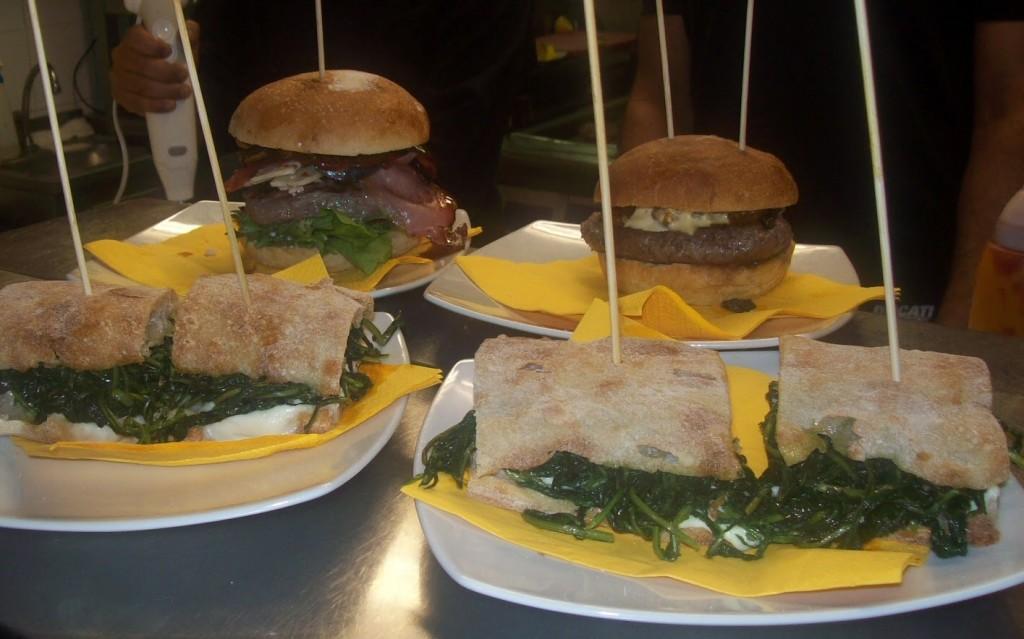 Bonci, Roma - hamburger e panini con cicoria e bufala