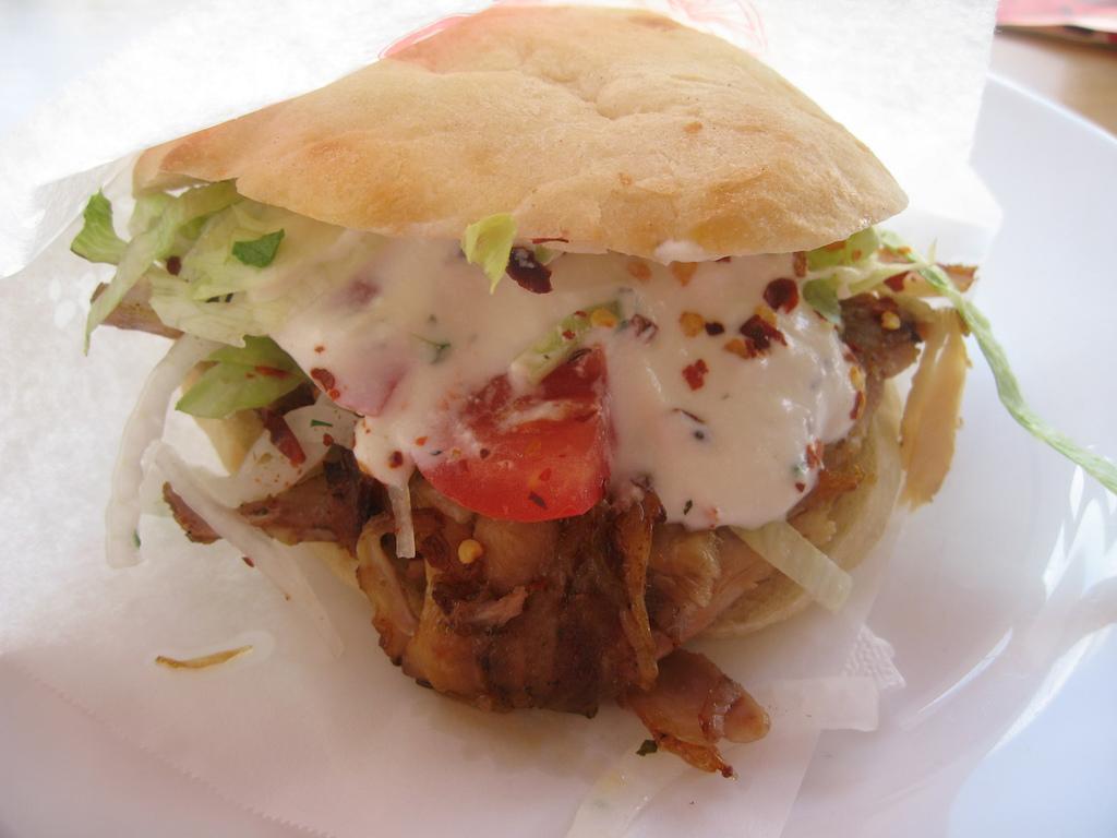 Kebab, Roma - panino e kebab
