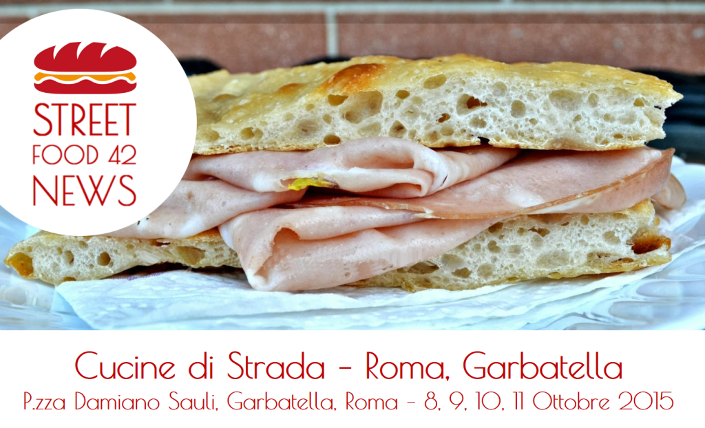 Street food Garbatella, Roma - Cucine di Strada - 8, 9, 10, 11 Ottobre 2015 - pizza e mortazza