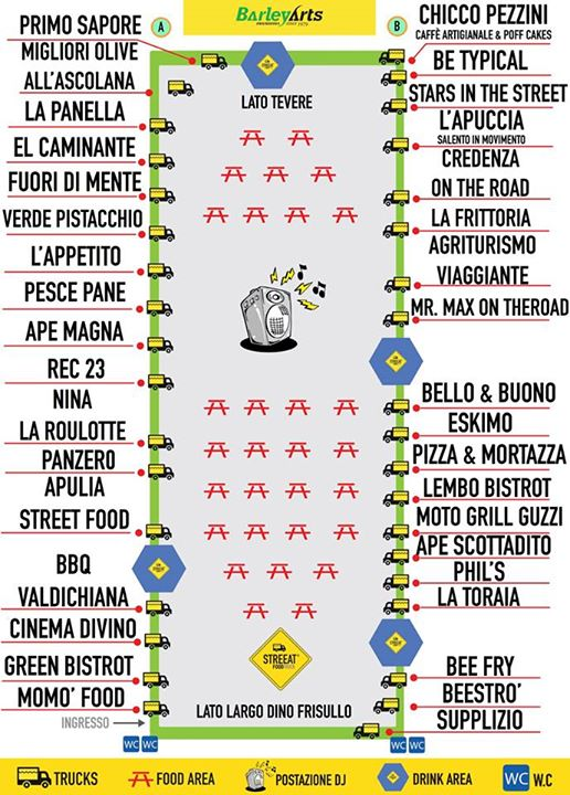 Street food Testaccio - StreEat Food Truck Festival - 23,24, 25 ott 2015